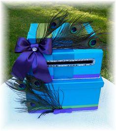 Wedding Card Money Box  LAGUNA Blue Regency by WeddingsofDesign, $135.00