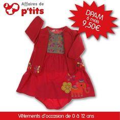 Notre coup de cœur parmi les nouveautés du soir :)  Superbe robe signée DPAM !    http://www.affairesdeptits.com/6-mois/4901-robe-culotte-assortie-et-gilet.html