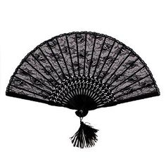 NSSTAR High Quality Lady's Girl's Vintage Retro Flower Lace Handheld Folding Hand Fan (Black): Ships from NSSTAR with one piece free cup mat color random Victorian Party, Victorian Gothic, Victorian Ladies, Retro Flowers, Black Flowers, Vintage Ladies, Retro Vintage, Vintage Fans, Dance Decorations