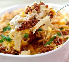 This cheesy noodle bake is a deliciously versatile dish that you can enjoy at home on weeknights, share with friends, or take to your next potluck party.