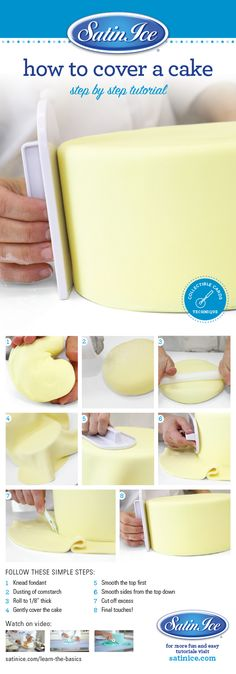 Learn to cover a cake with fondant properly by Satin Ice! Shop now to DIY https://satinice.shop/pages/fondant