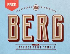 Confira este projeto do @Behance: \u201cBERG - FREE LAYERED FONT FAMILY\u201d https://www.behance.net/gallery/53625645/BERG-FREE-LAYERED-FONT-FAMILY