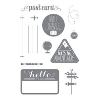 Wanderlust, 133452  Check out all of the 50% off Stampin' Up! photopolymer stamp sets not in a catalog at www.MichellesPaperCreations.com   Michelle Gray