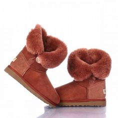 Ugg Bailey Button Boots 5803 Brick Red