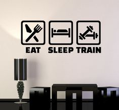 Vinyl Wall Decal Fitness Training Healthy Lifestyle Gym Stickers (ig4388)