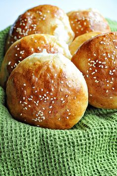 Soft White Hamburger Buns- makes 12: 4 3/4 c unbleached bread flour,1 1/2 teaspoons salt, 1/4 cup powdered milk, 3 1/4 tablespoons sugar, 2 teaspoons  instant yeast, 1 large  egg 3 1/4 tablespoons  butter, melted or at room temperature 1 1/2 cups plus 1 tablespoon to 1 3/4 cups (13 to 14 ounces) water, at room temperature 1 egg, whisked with 1 tablespoon water until frothy, for egg wash Sesame or poppy seeds, for garnish (optional)
