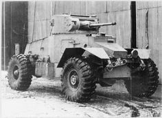 WW2 - Allied Armour - Light: British AEC Mk I Armoured Car armed with QF 2 pounder, 1 BESA coaxial machine gun and a Bren gun.