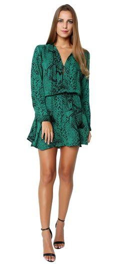 Pillar Mini Dress Verde
