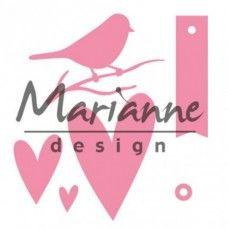 Marianne Design Srdcia a vtáčik