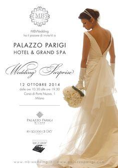 Il 12 ottobre avete un impegno. Sì, perché Di Giò sarà presente al WEDDING SURPRISE! • Scaricate l'invito su www.mb-wedding.it e confermate la vostra partecipazione!