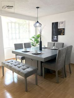 Cambridge dining room- Comedor Cambridge Dining room for 8 people! Dinning Table Design, Dining Room Table Decor, Square Dining Tables, Dining Nook, Dining Room Furniture, Living Room Decor, Esstisch Design, Dining Room Inspiration, Home Decor Furniture