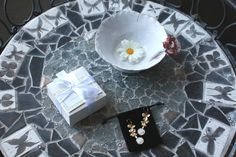 Delicate handmade porcelain necklaces and earrings for your jewelry box.