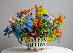History Lesson: French Beaded Flowers on Etsy interesting article i love these pretty flowers ...