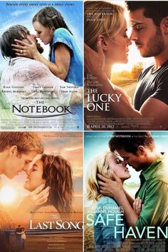 Nicholas Sparks - all of them are amazing. Also love Night in Rodanthe! Best part is all of them are in NC! Except the movie for the last song was taken place in Atlanta, Georgia