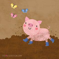 Coco Gigi Design: Happy pig :)