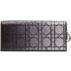Pre-owned Christian Dior Sequin Clutch ($2,042) ❤ liked on Polyvore featuring bags, handbags, clutches, black, black handbags, pre owned handbags, christian dior purses, black sequin handbag and black purse