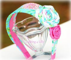 Girls Headband 2 Inch Lilly Pulitzer Fabric by looking4lilly, $12.00