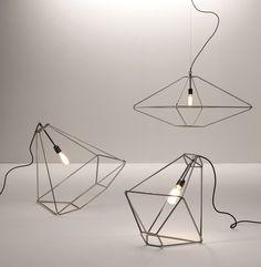 Sara Bernardi; Chromed Metal 'Con.Tradition' Lamps for Opinion Ciatti, 2010s.