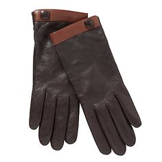 John Lewis Band and Button Gloves, Tan