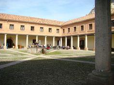"""""""Monasterio de Santa María de El Paular. Patio del Ave María"""" Rascafría - Madrid (Spain) Teja Verea Curva 50x21 Jacobea (superficie rehabilitada 8.600 m2)."""