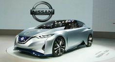 Nissan Leaf EV is equipped with a 60 kWh battery pack offering 544 kilometers=approx. Nissan Leaf 2017, New Nissan Z, Nissan Z Cars, Future Concept Cars, Future Car, Electric Car Concept, Electric Cars, Japan Design, Mazda