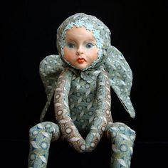 Teddy Doll OOAK art toy February Elf interior by DreamTrainOfDolls