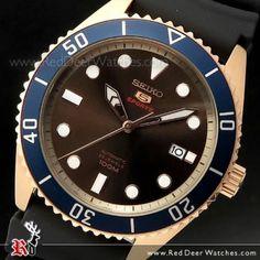 Seiko 5 Sports Automatic Rose Gold 100M Watch SRPB96K1, SRPB96 Seiko 5 Automatic Watch, Seiko 5 Sports Automatic, Sport Watches, Watches For Men, Seiko Titanium, Seiko 5 Military, Seiko Solar, 100m, Two Tones