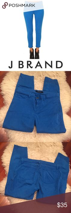 J Brand Breakwater Skinny Bright Blue Capri Jeans J Brand Breakwater Skinny Bright Blue Capri Jeans. 9.5 inch rise. 26 inch inseam. Size 30 which is a 10. Stretch but run small. Gently worn. Great condition. Feel free to make an offer or bundle & save! J Brand Jeans Skinny