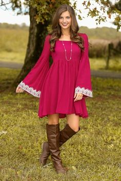 Fall Dress put some jeans or legging with this and it would be great