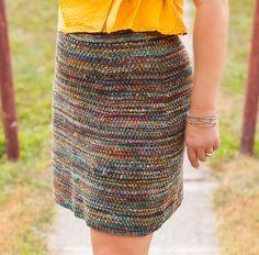 Ravelry: Leftover Sock Yarn Skirt pattern by Gwen Bortner