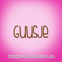 Guusje (Voor meer inspiratie, en unieke geboortekaartjes kijk op www.heyboyheygirl.nl)