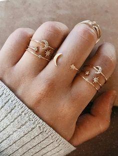 Abigail Moon & Stars Ring Jewelry Sets, Jewelry Rings, Beaded Jewelry, Jewelry Accessories, Fine Jewelry, Jewelry Making, Jewelry Holder, Jewelry Findings, Girls Jewelry