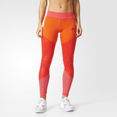 Adidas Ultimate Long Tights - Red Color Core Red / Core Pink (B47006)