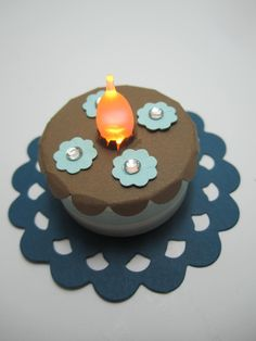 """This is a cute and easy project, and one my American Ink achievers made Saturday. Above, the flameless tea light is """"on.""""          Mak..."""