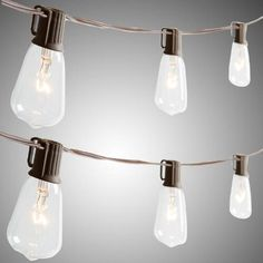 One of my favorite discoveries at ChristmasTreeShops.com: Edison-Style Indoor/Outdoor String Lights, Set of 2