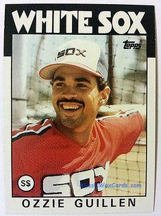 8e47484262ff3 1986 Topps Ozzie Guillen White Sox Baseball