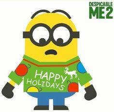 Holiday Minion via www.Facebook.com/DespicableMe