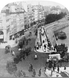 Le quai des Grands-Augustins vers 1865  (Paris 6ème)