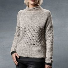 Leaf Sweater pattern by Sanne Fjalland Cable Knit, Cardigans, Sweaters, Men Sweater, Turtle Neck, Kit, Pullover, Clothes For Women, Knitting