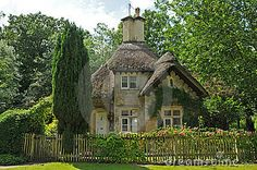 Beautiful rural  stone homes in countryside of England
