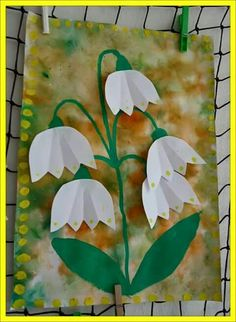 Lily of the valley Spring Crafts For Kids, Spring Projects, Art For Kids, Art Projects, Preschool Crafts, Easter Crafts, Kids Crafts, Origami, Spring Activities