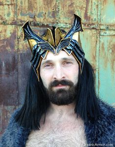 #Thorin crown from The Hobbit, worn by Alan Milpass, #custom #LOTR #cosplay