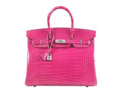 a742fc83365c View this item and discover similar top handle bags for sale at -  Guaranteed authentic 35 Hermes Birkin Pink Rose Scheherazade Porosus  Crocodile.
