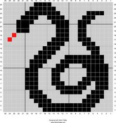 Slytherin snake solid   Designed by Jessica Rick   Stitch Fiddle - Stitch Fiddle