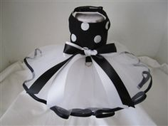 White and Black Dot Tutu Dress