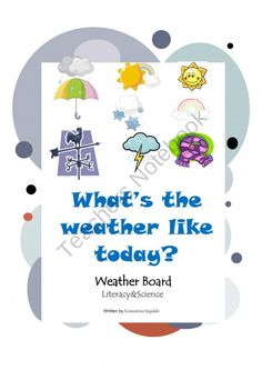 Free! Weather Classroom Calendar Pre-K and Kindergarten!