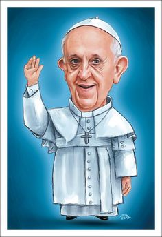 Papa Francisco - Caricatura
