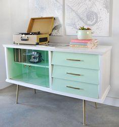 Vintage modern painted furniture in Vancouver
