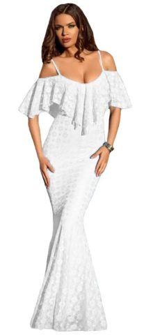 $32.85 FREE SHIPPING! #Women Elegant Off Shoulder #White #Mermaid #Dress   #party #wedding #formal