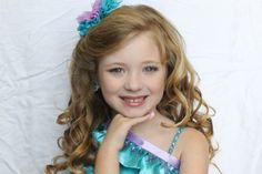 Pageant hair and photo topper!